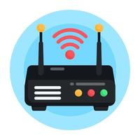 dispositivo roteador wi-fi vetor