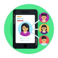 rede de usuário móvel vetor