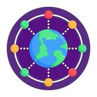 rede global e conexão vetor