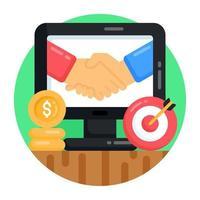negócio e acordo online vetor