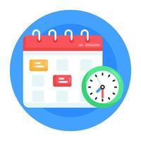 agenda e calendário vetor