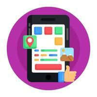 interface de usuário móvel vetor