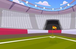 vista de canto no estádio de futebol vetor