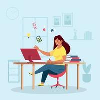 estudo em casa atividade vetor