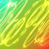 Círculos obscuros de néon em um fundo azul, ilustração do vetor. vetor