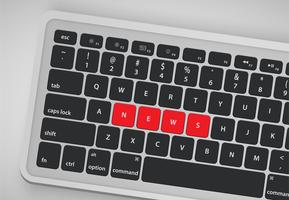 Letras no teclado formam uma palavra, ilustração vetorial vetor