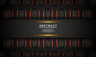Fundo 3d luxuoso preto abstrato com efeito de pontos brilhantes vetor