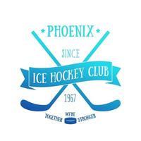 design de camiseta do clube de hóquei no gelo, impressão vetorial vetor