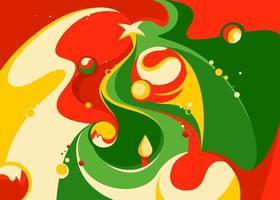 banner com árvore de Natal abstrata. vetor