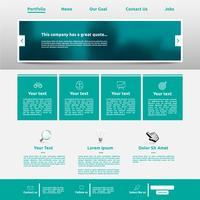 Modelo de site moderno para negócios, ilustração vetorial vetor