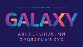 tipografia de cores coloridas de néon futurista vetor