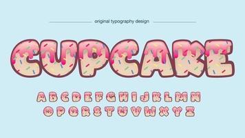 tipografia de desenho abstrato de cupcake vetor