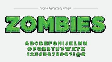 tipografia de desenho animado 3D pingando verde vetor