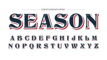 tipografia elegante em azul escuro e vermelho vetor