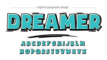 tipografia de desenho animado verde negrito com padrão pontilhado vetor