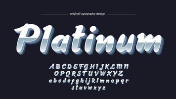tipografia chrome 3d bold vetor