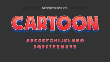 cartoon tipografia artística 3d azul e vermelho vetor