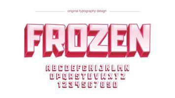 tipografia artística de desenho animado 3d vermelho vetor