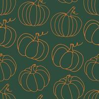 abóbora halloween padrão sem emenda de ação de graças vetor