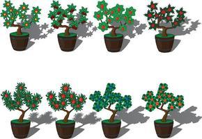 vasos de plantas para ilustração vetorial de decoração vetor