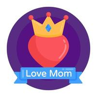amo mãe e segurança vetor