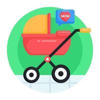 carrinho de bebê e carrinho de bebê vetor