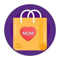 surpresa mãe e presente vetor