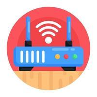 roteador wi-fi e modem vetor