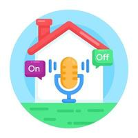 voz automatizada doméstica vetor