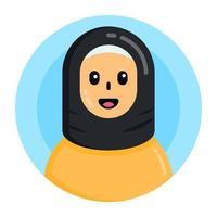 mulher muçulmana e menina vetor