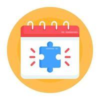 calendário e agenda do autismo vetor