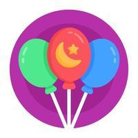 balões de gás do ramadã vetor