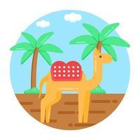 camelo e criatura vetor