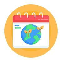 calendário ecológico e planejador vetor