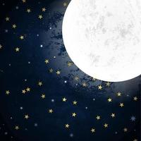 noite estrelada ao luar céu vetor