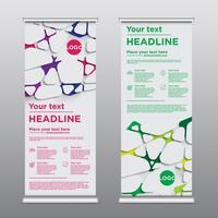 Folheto de design rollup colorido, ilustração vetorial