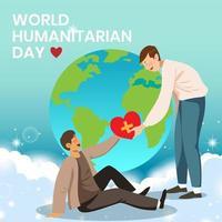 dia mundial humanitário vetor