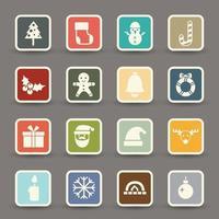 ícones de natal .vector vetor