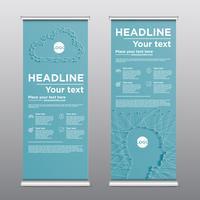 Folheto de design rollup colorido, ilustração vetorial vetor