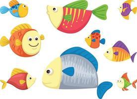 vetor de nove peixes
