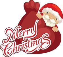 vetor de tipografia papai noel e feliz natal
