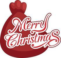 vetor de tipografia bolsa e feliz natal