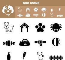 vetor de ícone de cachorro