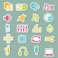 conjunto de ícones de música vetor