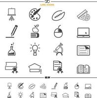vetor de ícones de educação