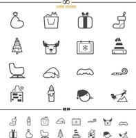 vetor de ícones de natal