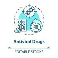 ícone do conceito de medicamento antiviral vetor