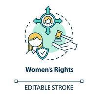 ícone do conceito de direitos das mulheres vetor