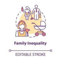 ícone do conceito de desigualdade familiar vetor