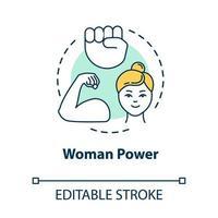 ícone do conceito de poder feminino vetor